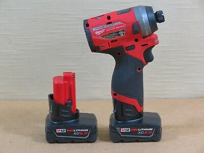 Milwaukee 2553-20 1/4 Hex Cordless Impact Driver,Brushless,XC4.0/6.0 Battery,12V