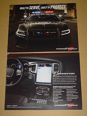 2016 Dodge Charger Police Pursuit Brochure Poster 2-Sided Card Nice!