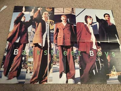 Backstreet Boys Hanson teen magazine poster clipping dressed alike red suits Bop
