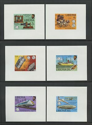 Liberia Stamps #742-47, 100th Anniv of telephone, set of 6 imperf deluxe s/s