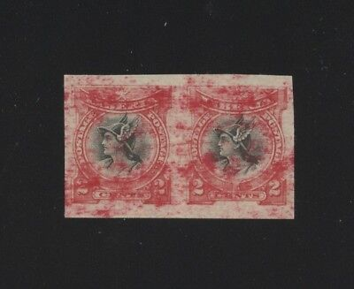 Liberia stamps, #102b, Mercury, smeared red ink, possible printers waste