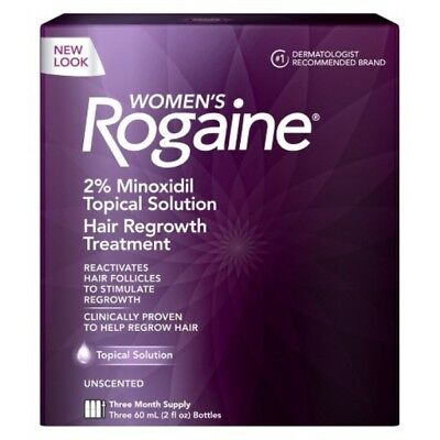 Women's Rogaine Topical Solution Hair Regrowth Treatment 3 Month Supply