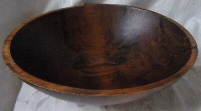 Vintage Huge Wooden Dough Bowl Serving Bowl by Weston Bowl Mill Vermont Beauty