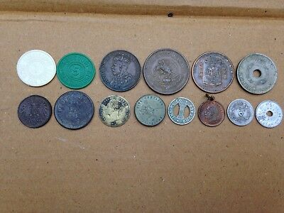 14 Vintage & Antique Tokens & Foreign Coins Found In Old Button Tins
