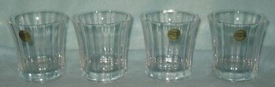 Cristal d'Arques 4 Temptation Crystal Rocks Tumblers 8 Ounce Stickers Durand