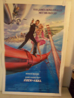 1985 Original 1-Sheet 27x41 Movie Poster A VIEW TO A KILL JAMES BOND Roger Moore
