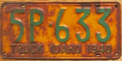 1940 Idaho License Plate Number Tag - $2.99 Start
