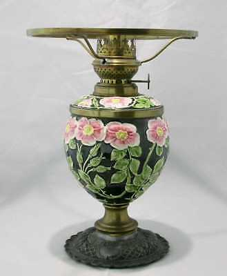 Rare antique Majolica oil lamp            NO RESERVE!!!