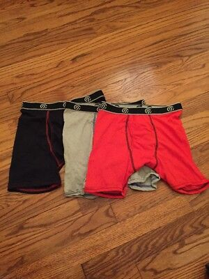 Boys New Champion Boxer Briefs Size Large In Red/gray/black Lot of 3