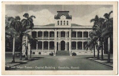 1944 Iolani Palace Capital Bldg TH Hawaiian Islands Army Examiner