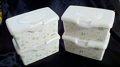 4 Huggies Empty Baby Wipe Dispensers Diapering Containers Winnie The Pooh Spring
