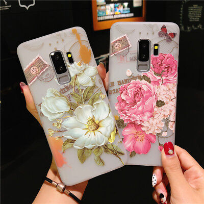 For Samsung Galaxy S9 S8 Note 9 Cute Pattern Rubber Soft TPU Silicone Case Cover