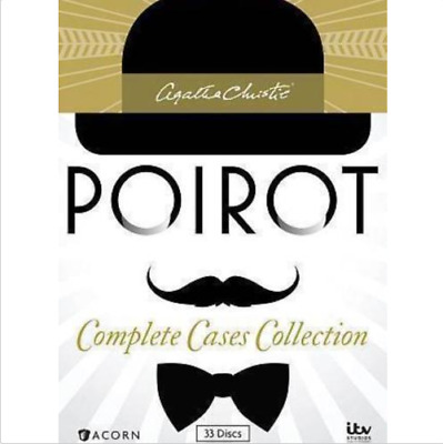 Agatha Christies Poirot: Complete Cases Collection (DVD, 2014, 33-Disc Set) NEW