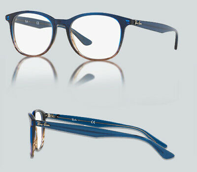 1bb930b902 AUTHENTIC RAY BAN 0RX 5356 5765 GRADIENT BLUE ON STRIPPED GREY Eyeglasses