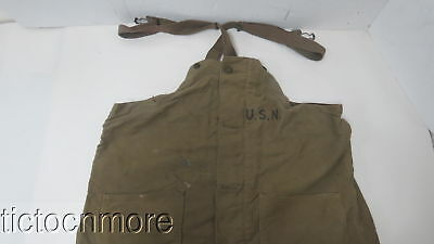 Wwii Us Navy Usn Deck Pants Bibs Military Suspender Overall Trousers Size Large
