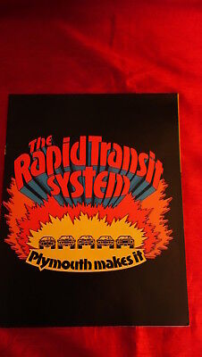 1970 Plymouth Performance Brochure Rapid Transit System Sox Martin Snake Race