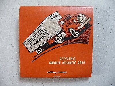 Vintage Preston trucking Emery-Ettes emery board sticks matchbook full