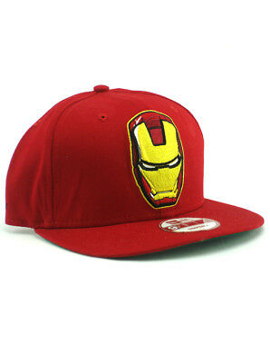 913c8c08a New Era Iron Man 2 Movie 9fifty Snapback Hat Adjustable Marvel Comics Red  NWT