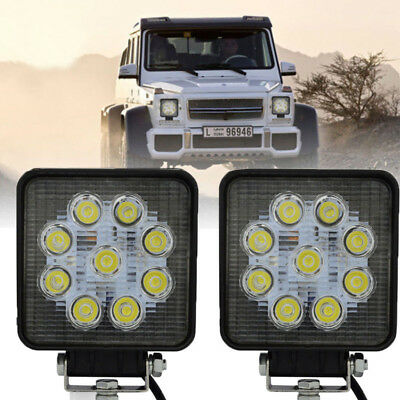 2× 27W SPOT LED Off road Work Light Lamp 12V 24V Car Boat Truck Driving UTE Jeep