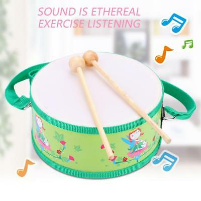 Wooden Snare Drum with Sticks Drum Percussion Educational Musical Toy Kids Gift