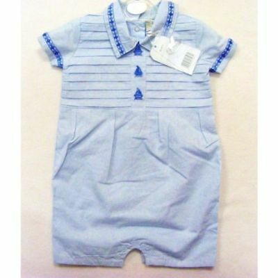 Baby boys Spanish style traditional romper outfit boats design 0-3 months BNWT