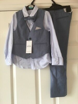 New Marks & Spencer Boys 4 Part Suit Wedding / Occasion 5 - 6  Years £40.00