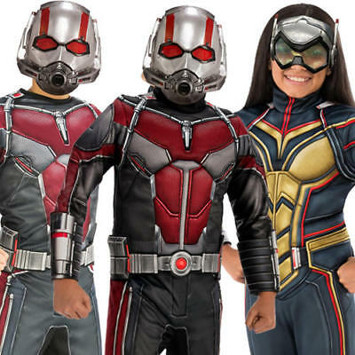 Ant-Man and the Wasp Kids Fancy Dress Marvel Comic Superhero Boys Girls Costumes