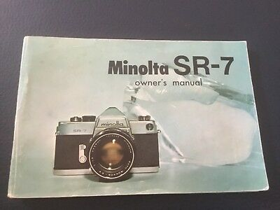 Minolta SR-7 Owners Manual BDA