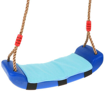 EVA Swing Seat + Cushion W/Accessories Kids Outdoor Garden Swing Toy Blue