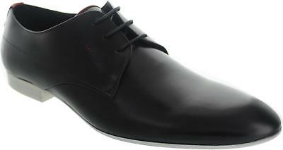 Lawler Duffy Delfur Men's Formal Black And White Lace Up Leather Work Shoes New