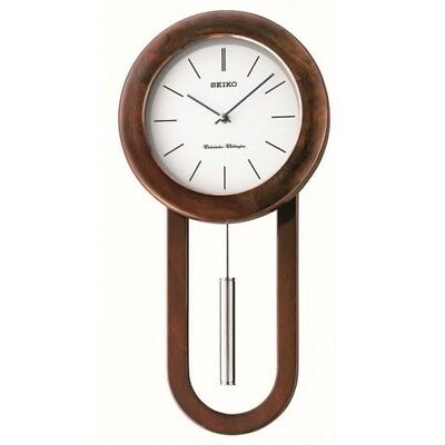 Seiko Long Case Pendulum Chiming Wall Clock - NEW QXH057B