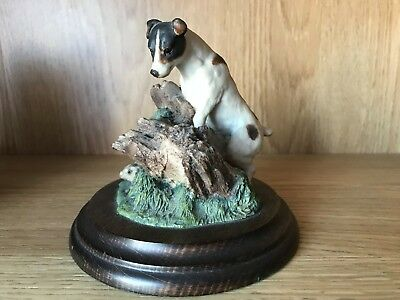 Vintage Ceramic Jack Russell Dog Figure Ornament By Country Artists (R. Cooper)