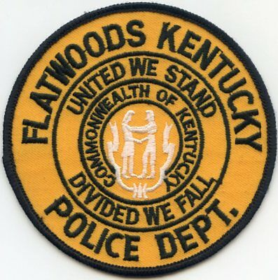 FLATWOODS KENTUCKY KY United We Stand - Divided We Fall POLICE PATCH