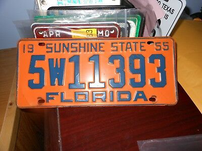 Florida 1955 automobile license plate, issued in Polk County