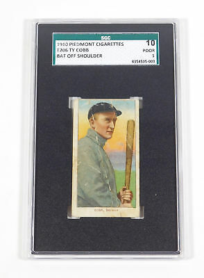 1909-11 T206 Ty Cobb Piedmont Back Bat Off Shoulder SGC 10