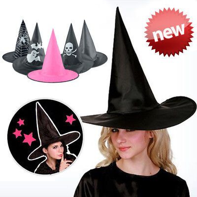 NEW Witch Wizard Hat Costume Men Womens Accessory Adult Halloween Party 5 Types