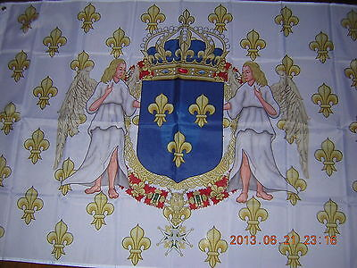 Reproduced Royal Standard of the Kingdom of France 1643-1765 Flag Ensign 3X5ft