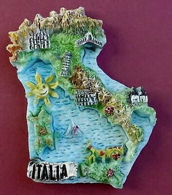 Souvenir Fridge Magnet Italy Map And All The Cities