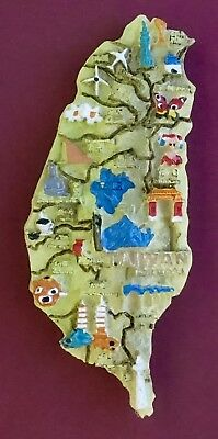 Souvenir Fridge Magnet Taiwan Map And All The Sights