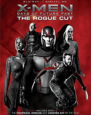 X MEN DAYS OF FUTURE PAST THE ROGUE CUT (Blu-ray Disc, 2015, 2-Disc Set) NEW