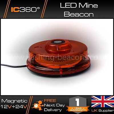 IC360 LED Flashing Beacon Magnetic 12v 24v Lightbar Low Profile Vehicle Light