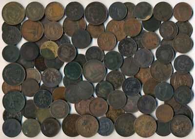 91 Old Canada Tokens & Coins (Interesting >> See Pictures) No Reserve
