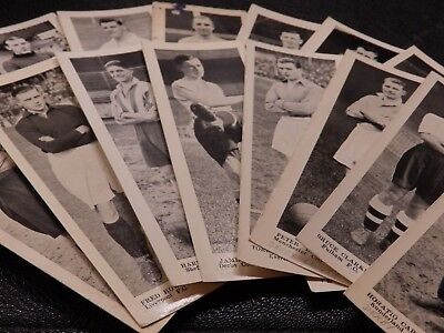 Miniature Panel Portraits Football Stars Topical Times 1937 Pick your own cards