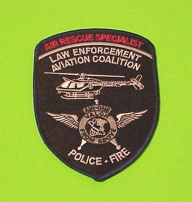 Air Rescue Specialist  Law Enforcement Aviation  Police Patch   Free Shipping!!!