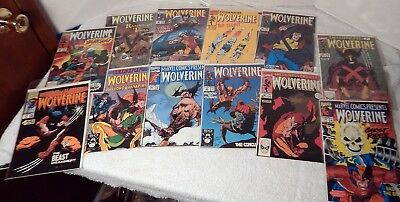 Marvel Wolverine Comics Lot of 12 boarded and bagged.