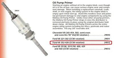 How To Prime Oil Pump Ford 302
