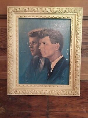 Vintage Brothers United John and Bobby Kennedy by Alton Tobey Framed Print