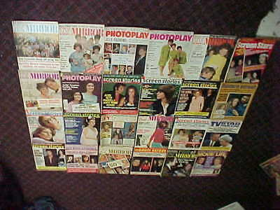 lot of 24 vintage movie magazines dated from 1966 – 1974