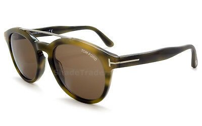 Tom Ford Newman Sunglasses Olive Hanana Torte Roviex Brown Gradient Ft 0515  55E 521136bda08d