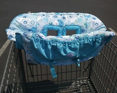 Comfort And Harmony Shopping Cart Cover Blue White Green Circles GUC